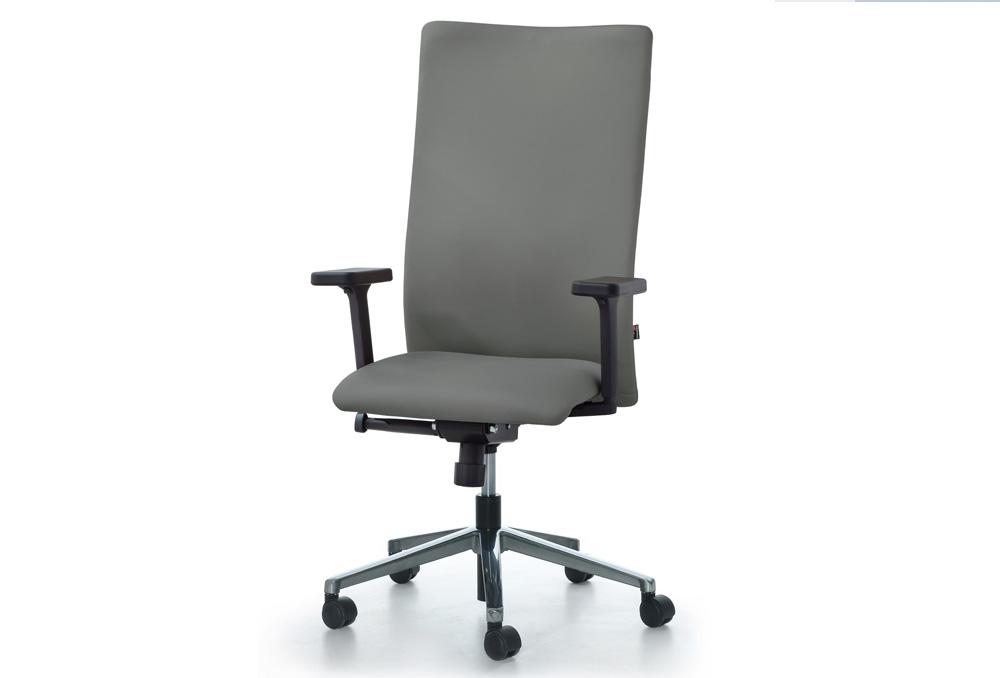Διευθυντικό Κάθισμα Dromeas Smart D Δερματίνη Γκρι Πεντάνευρο Γκρι