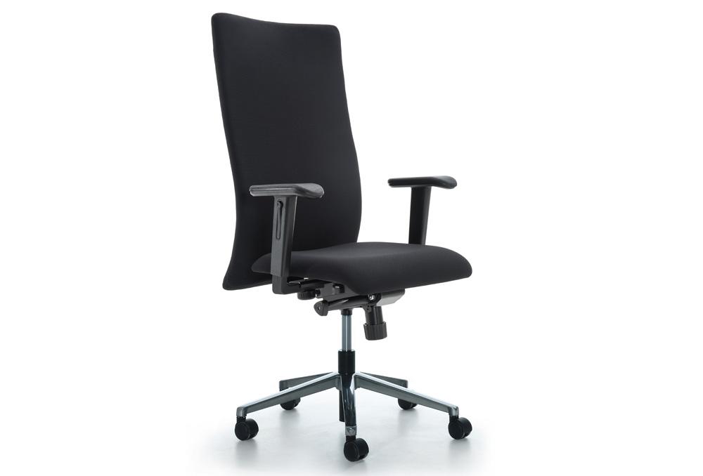 Διευθυντικό Κάθισμα Dromeas Smart D Δερματίνη Μαύρη Πεντάνευρο Γυαλισμένο
