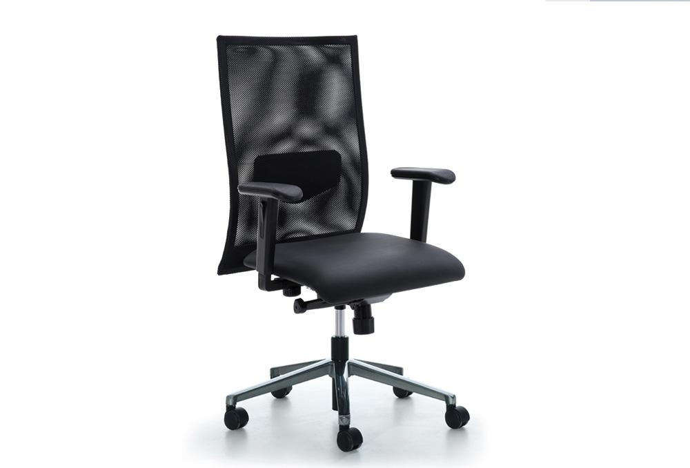 Κάθισμα Εργασίας Dromeas Smart  Πλάτη Δίχτυ Μαύρο Ύφασμα Μαύρο