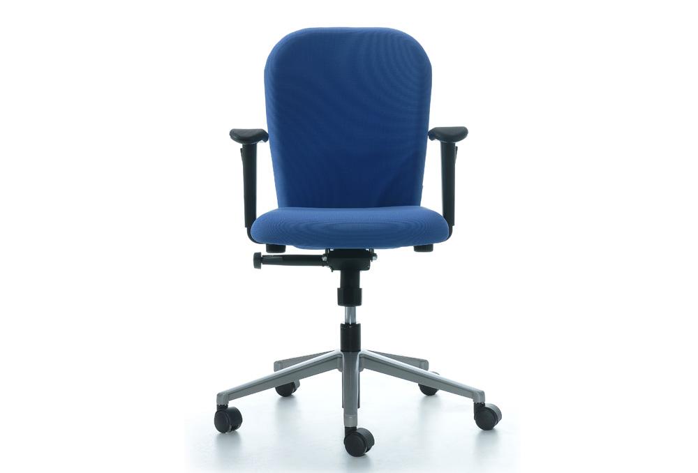 Κάθισμα Εργασίας Dromeas Zeta Synchro με Μπράτσα Ύφασμα Κατ1 Μπλε Πεντάνευρο Γκρι Ασημί