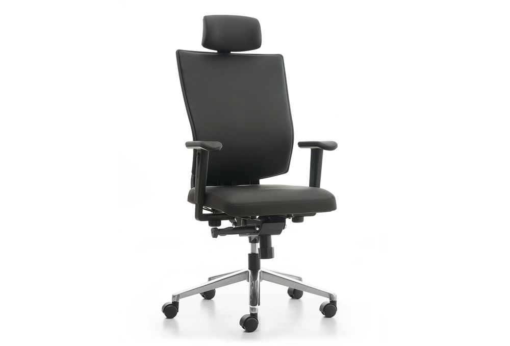 Κάθισμα Διευθυντικό Dromeas Reflex D Δερματίνη Μαύρη Πεντάνευρο Βαμμένο Ανθρακί