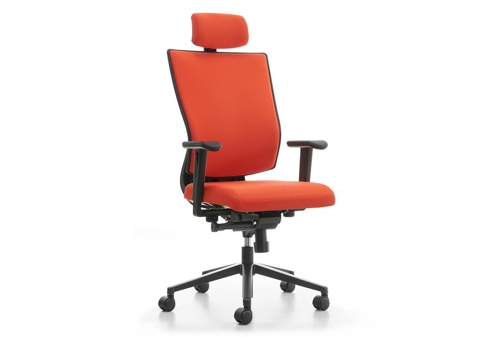 Κάθισμα Διευθυντικό Dromeas Reflex D Ύφασμα Κατ1 Πορτοκαλί Πεντάνευρο Βαμμένο Ανθρακί