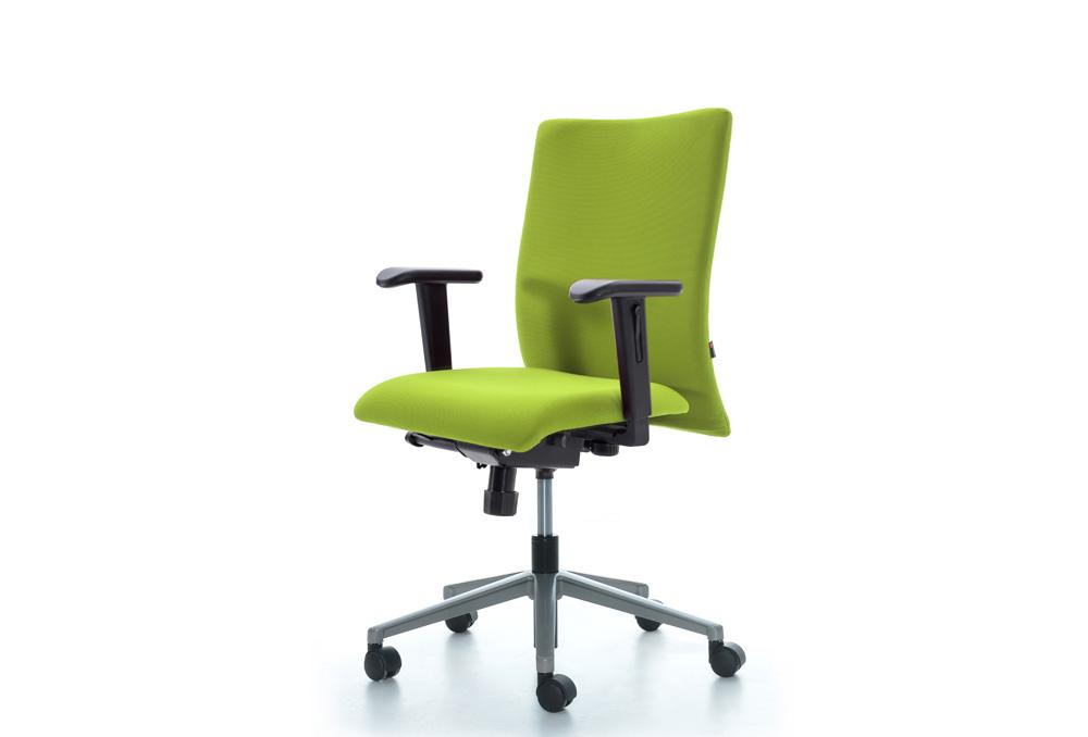 Κάθισμα Εργασίας Dromeas Smart Synchro με Μπράτσα Ύφασμα Κατ1 Λαχανί Πεντάνευρο Γκρι Ασημί