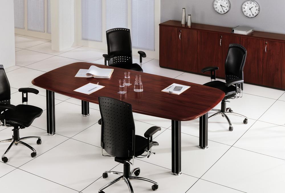 Γραφείο Συνεδριάσεων Dromeas σειράς Euro One διάστασης 240Χ120Χ73Η σε απόχρωση κερασιάς