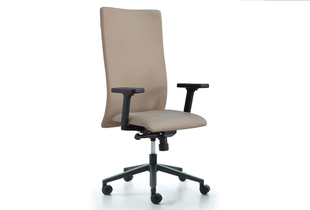 Διευθυντικό Κάθισμα Dromeas Smart D Δερματίνη Μόκα Πεντάνευρο Ανθρακί