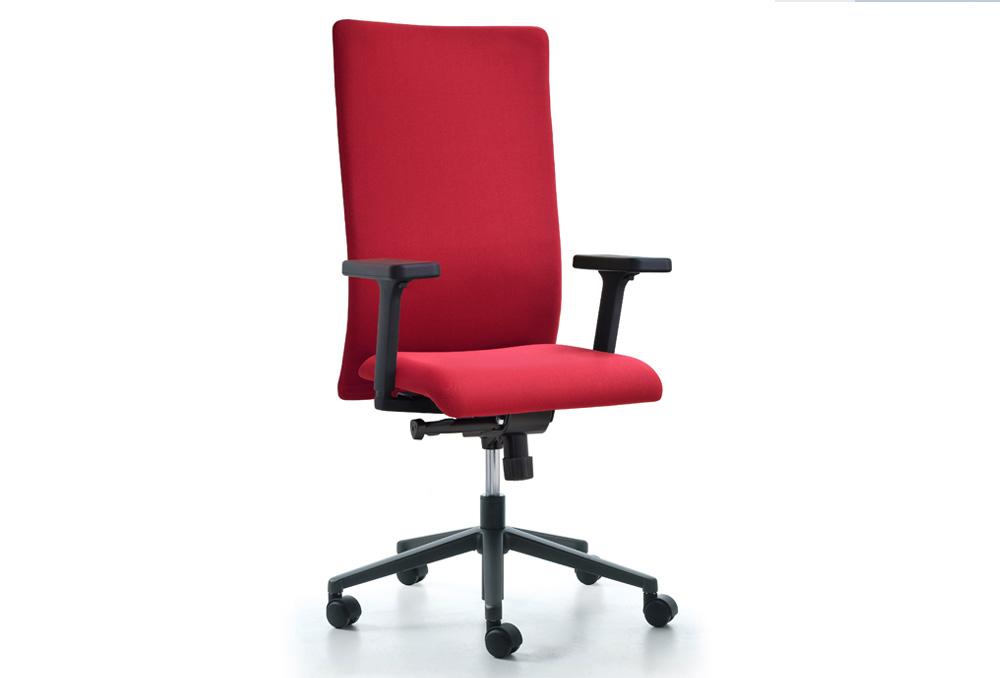 Διευθυντικό Κάθισμα Dromeas Smart D Ύφασμα Κόκκινο Πεντάνευρο Ανθρακί