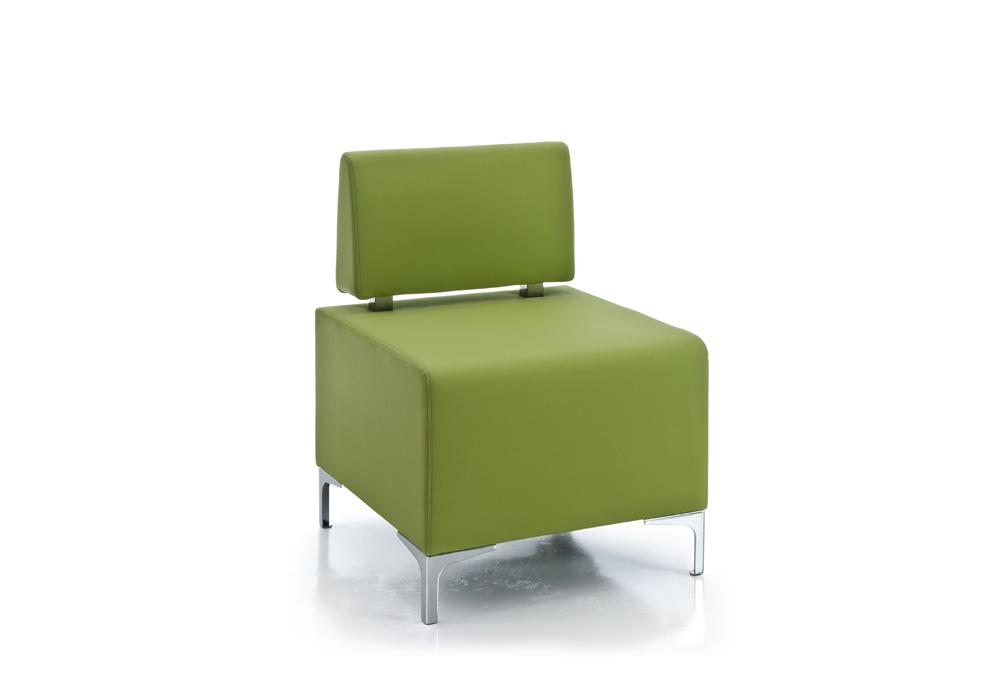 Πολυθρόνα Dromeas σειράς Kivos Δερματίνη Λαχανί διάστασης 60Χ60Χ82