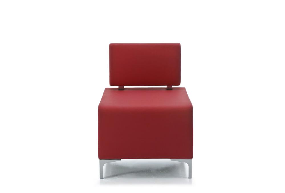 Πολυθρόνα Dromeas σειράς Kivos Δερματίνη Κόκκινη διάστασης 60Χ60Χ82