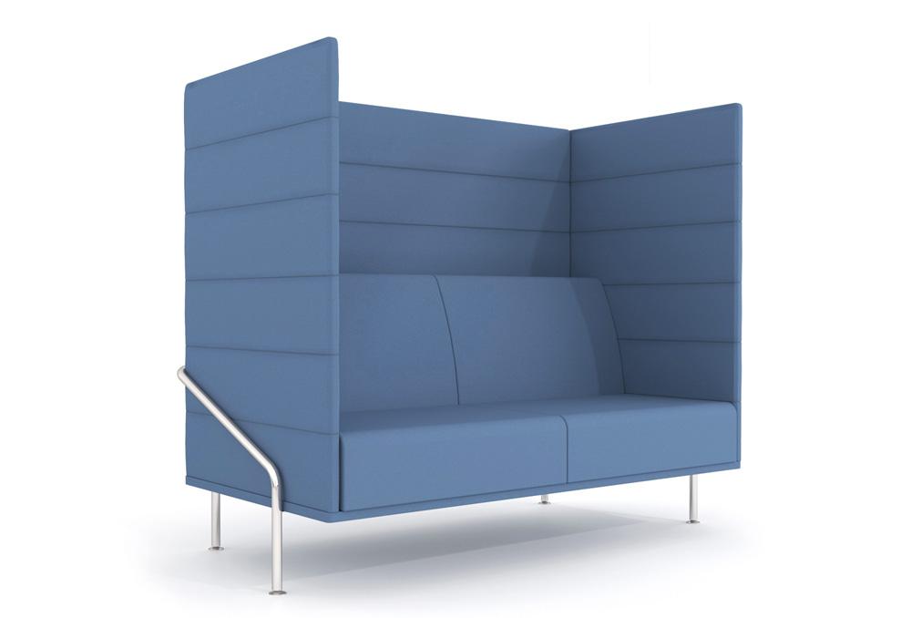 Διθέσιος καναπές ηχοαπορροφητικός Dromeas σειράς Nido Ύφασμα Μπλε