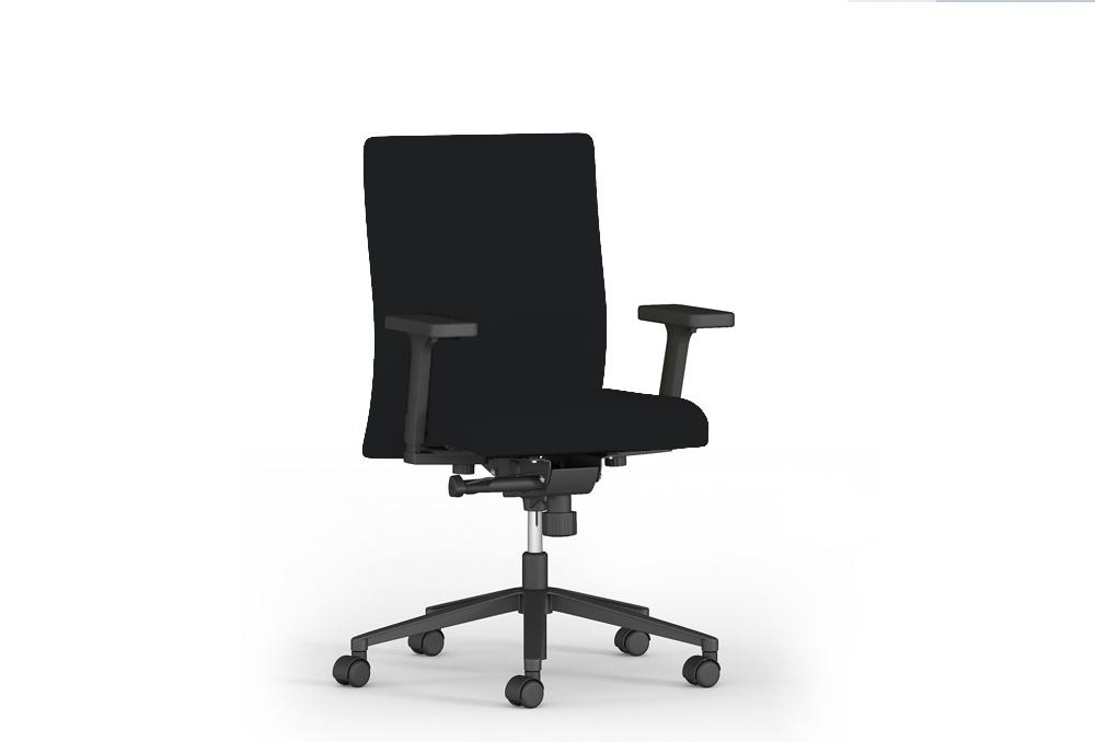 Κάθισμα Εργασίας Dromeas Smart Synchro με Μπράτσα Ύφασμα Μαύρο Πεντάνευρο Ανθρακί