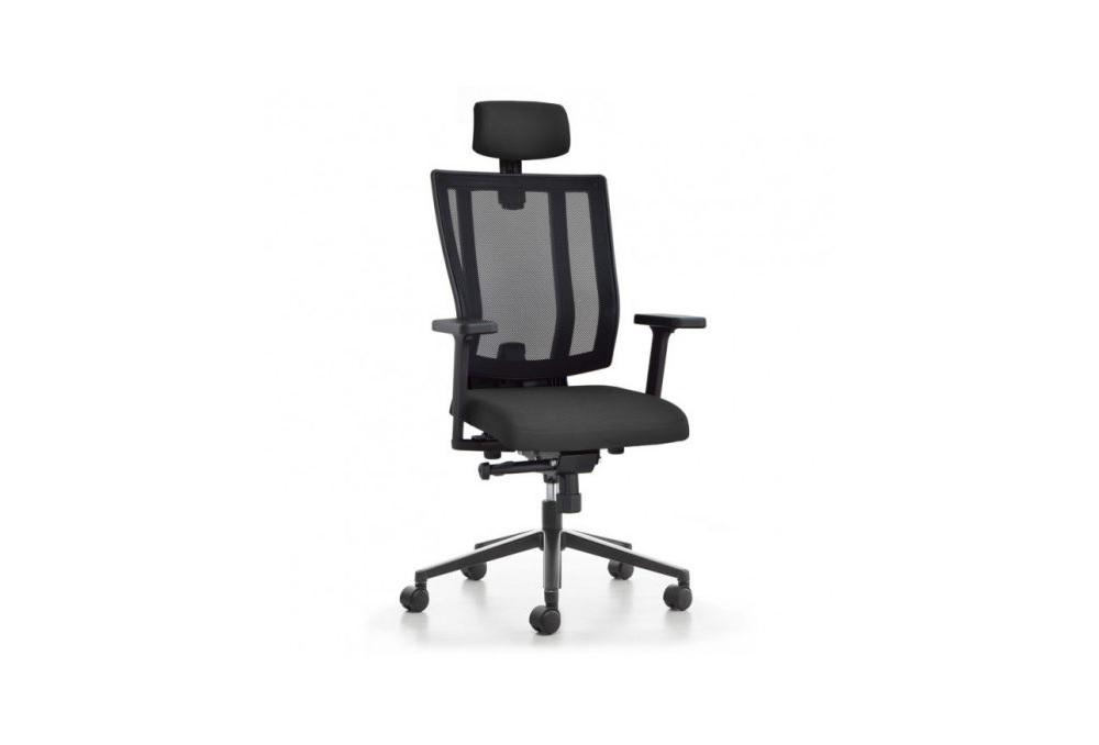 Κάθισμα Διευθυντικό Dromeas Reflex D Πλάτη Δίχτυ Έδρα Ύφασμα Μαύρο Πεντάνευρο Βαμμένο Ανθρακί