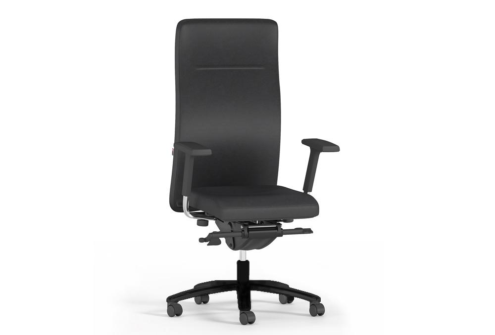 Διευθυντικό Κάθισμα Dromeas Vip Δερματίνη Μαύρη Πεντάνευρο Ανθρακί